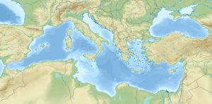 APRIMED Carte de la mer Méditerranée