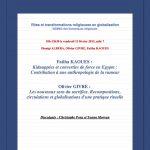 Conférence Dionigi Albéra Olivier Givre Fatiha Kaouès